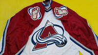 Authentic Center Ice Colorado Avalanche Jersey Mens Large / 48 white Starter