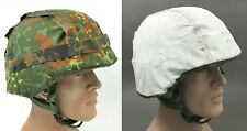 2in1 COVER CEVLAR HELMET1 WOODLAND CAMOUFLAGE  + WINTER WHITE GERMAN ARMY PASGT