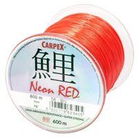 Carpex Neon Red 0,26 - 0,40mm 600m Karpfenschnur Feederschnur Schnur Angelschnur
