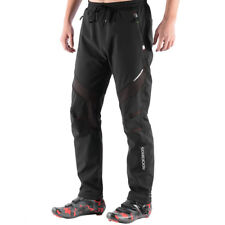ROCKBROS Winter Pants Fleece Trousers Windproof Cycling Casual Pants Red