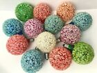 Vintage Non Working Snowball Ice Frosted Sugared Christmas Bulbs lot 13