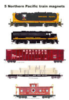 Northern Pacific Lumber Train 5 magnets Andy Fletcher