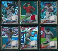 2018 Topps Chrome Factory Complete Rookie Relic 6 Card Set Ronald Acuna Jersey +