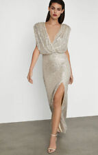 BCBG Max Azria Sequin Surplice Gown Dress Corozo Combo $348 Sold Out! Small