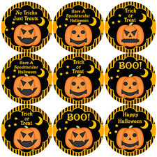 144 Halloween Pumpkins 30mm Children's Reward Stickers for Teacher, Parent,