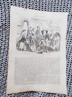 Vexation of Giuseppe at Lucy's Escape - 1859 Book Print