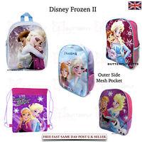 Disney Frozen II School Back Pack Anna Elsa Unleash The Magic - Gym String Bag