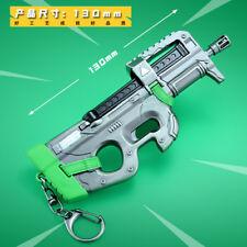 1:5 1/5 TOY PUBG  FN P90 submachine gun weapon  METAL KEYCHAIN
