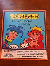 vintage Bubble Gum Vending Machine Display Card Tart-ees  sour candy