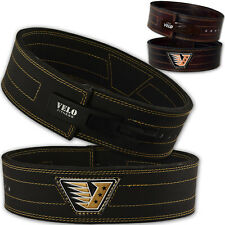VELO Powerlifting Belt Leather Weight Lifting Bodybuilding Fitness Gym Training