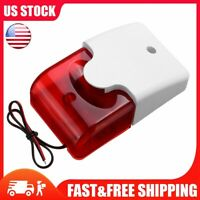 Outdoor Wired Alarm LED Strobe Light, 110dB-113dB, 12V Siren Security For Home