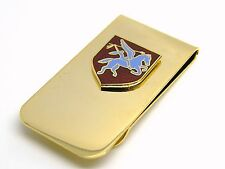 THE ARMY AIRBORNE SERVICE BADGE MONEY CLIP ARMY MILITARY GIFT IN POUCH
