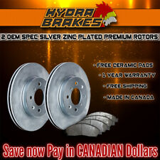 FITS 2013 2014 FORD ESCAPE 1.6AWD 2.0L BLANK OE BLANK BRAKE ROTORS CERAMIC