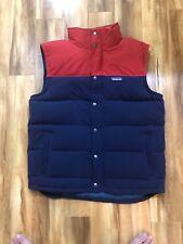 Patagonia Bivy Goose Down Oxblood & Navy Vest Men's Size L Outdoor