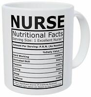Nurse Nutritional Facts Inspirational - Birthday Party Gift Cute Funny Mug 11oz