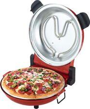Forno PIZZA Elettrico 1200W con pietra refrattaria NERA - 400°C - Pizze in 5 min