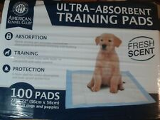 """AKC Ultra Absorbent Dog Puppy Training Pads Fresh Scent 100 Count 22"""" x 22"""""""
