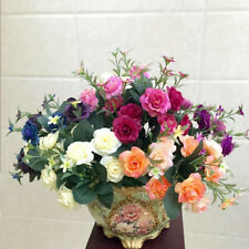 2 Bouquet 10 Head Artificial Silk Flowers For Wedding Bouquet Home Party Design