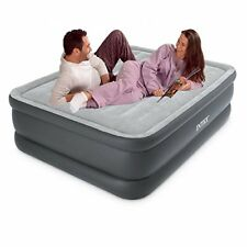 Intex Queen Essential Rest Raised Fiber-Tech Airbed with Electric Pump 64140