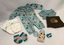 Reborn baby Woodland Creatures Outfit Set w/ 5oz Bottle filled w/fake formula