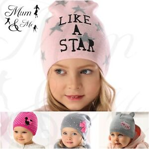 NEW Kids Girls Beanie Knitted Winter Hat Cap Acrylic Warmer Stylish Mickey Mouse