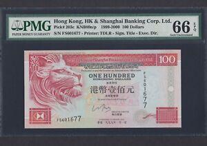 1999 Hong Kong HSBC $100 Note P-203c Gem UNC PMG 66 EPQ