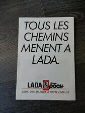 CATALOGUE BROCHURE PROSPEKT LADA AOUT 1990 PLUSIEURS MODÈLES