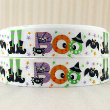 "Halloween/Boo Ribbon 1"" Wide 1m is only £0.99 NEW UK SELLER"