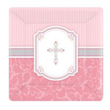 Decoración y menaje platos Amscan color principal rosa para mesas de fiesta