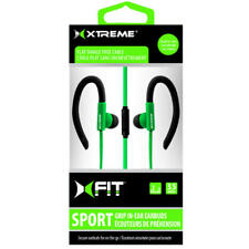 Xtreme XFit Cables 94614 4 ft. Sport Grip Earbuds With Microphone - Green