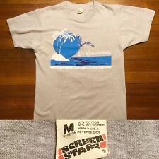 VTG 80s Fort Lauderdale T-Shirt Gray Seagull Palm Sun Ocean Screen Stars Small