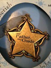 "Gloria Duchin Ornament ""My Father, My Guide"" Signed 2006 Swarovski Crystals"