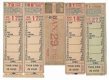 1930s 40s Lot 5 Cincinnati St Ry ticket Ohio Ave (Oakley) Madison Rd Fernbank +