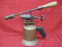 Vintage Antique Craftsman Blowtorch With Soldering Natural Patina Steampunk #4
