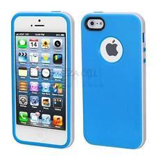 For Apple iPhone 5S 5 SE Blue Elegant Slim Bumper Hybrid Case TPU Cover Soft