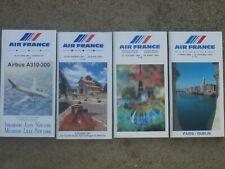 TIMETABLES  AIR FRANCE 1989, 1987, 1985, 1983