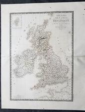 1820 Adrien Hubert Brue Large Antique Map of Great Britain & Ireland