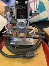Vintage Kingsley Hot Foil Stamping Machine With Lots Of Fonts And Accessories