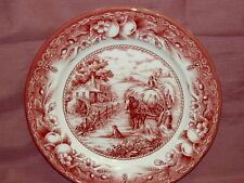 ROYAL STAFFORD Harvest Home Red~SET OF TWO  Dinner Plate~New~Made in England