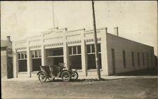 Milnor Nd Garage & Old Car c1910 Real Photo Postcard
