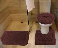 3- Pcs bath set embossed memory foam solid