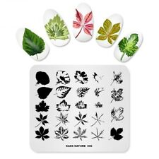 Nail Art Stamping Plates Image Plate Decoration Autumn Leaves Leaf Winter KADS06
