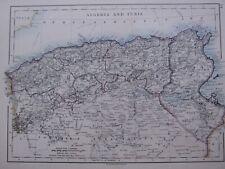 1918 MAP ALGERIA & TUNIS CONSTANTINE ALGER ORAN
