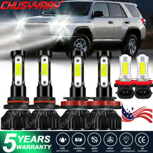 Kit faros antiniebla LED combinados 4 lados For Toyota 4Runner 2010-2018 Blanco