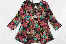 New Jersey Eyecatcher Tunika Shirt Kleid A-Linie, bunt Gr.XXL