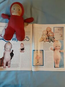 "Vintage 8"" Cuddle Kewpie Stuffed Doll 1929 Rose O'Neill, krueger"