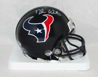 Deshaun Watson Autographed Houston Texans Mini Helmet- Beckett Auth *White