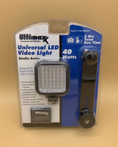 ULTIMAXX Professional Universal LED Video Light Kit W/ 2 Rechargeable Batteries