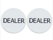 2 Casino Grade Professional Poker Dealer Buttons