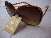 Celebrity Eyewear Sunglasses Tortoise Frame Brown Lens Gradient Womens Butterfly
